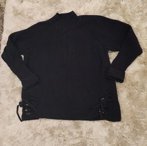 CJ Banks side lace up ribbbed sweater size 2X